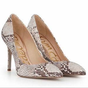 Sam Edelman iridescent rose gold pumps heels 7.5